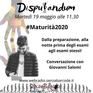 Maturità 2020, con Giovanni Salomi