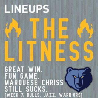 Great Win. Fun Game. Marquese Chriss Still Sucks. (Week 7: Bulls, Jazz, Warriors)