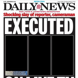 Graphic NY Daily News cover of WDBJ shooting heavily criticized