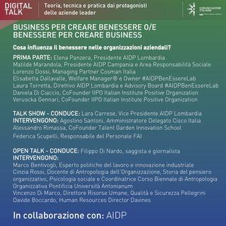 Digital Talk | Business per creare benessere o/e benessere per creare business | AIDP