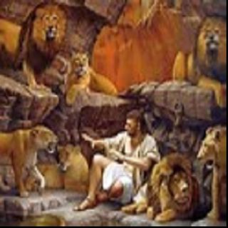 Daniel unharmed by lions