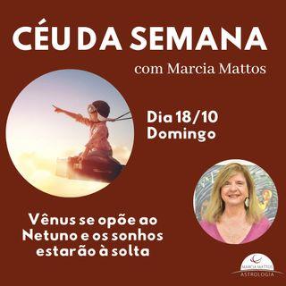 Céu da Semana - Domingo, 18/10: Vênus se opõe ao Netuno e os sonhos estarão à solta