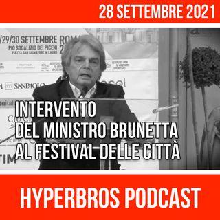 Festival delle Città, intervento del ministro Brunetta