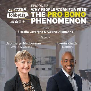 Ep 5 I Why people work for free? The PRO BONO phenomenon