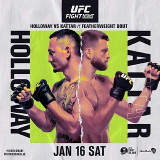 Ufc On Abc Headlined By Max Holloway Vs Calvin Katter In Featherweight Division