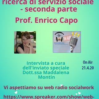Enrico Capo. Assistenti sociali e ricerca di servizio sociale - seconda parte