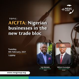 AfCFTA: Nigerian Businesses in the New Trade-Bloc - Wilson Erumebor, Senior Economist NESG