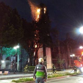 Controlan incendio de iglesia en CDMX