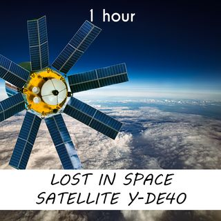 Lost in Space Satellite Y-DE40 | 1 hour CELESTIAL Sound Podcast | White Noise | ASMR sounds for deep Sleep | Relax | Meditation | Colicky
