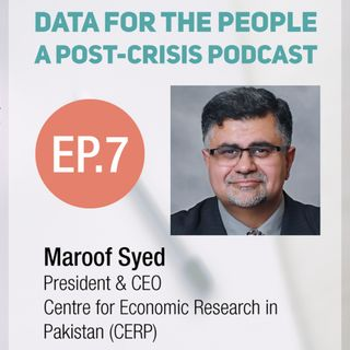Maroof Syed - President and CEO of the Centre for Economic Research in Pakistan