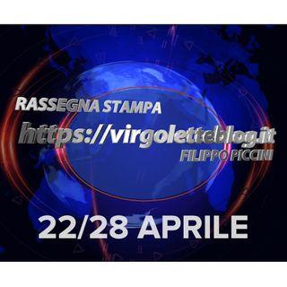 RASSEGNA STAMPA 22/28 aprile | virgoletteblog.it