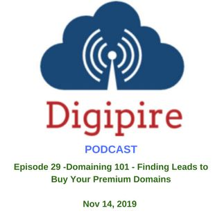 Episode 29 - Domaining 101 - Finding Leads for Your Premium Domains