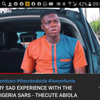 MY SAD EXPERIENCE WITH THE NIGERIA SARS THECUTE ABIOLA NEWS TODAY ON NERSI RADIO.