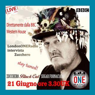 Esclusiva live con Zucchero prima radio Italiana negli studi BBC