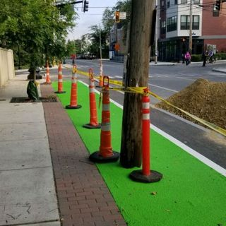 Why Is A Utility Pole Blocking A Somerville Bike Lane?