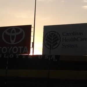 I Heart at Coca Cola 600 waking up