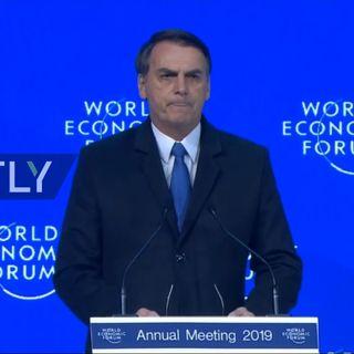 Bolsonaro discursa na Suiça destacando que o Brasil não é mais socialista