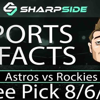 FREE MLB Betting Pick: Astros vs Rockies August 6th