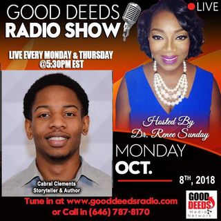 Cabral Clements Storyteller and Author shares on Good Deeds Radio Show