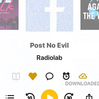 "#97 Listen to Radiolab's ""Post No Evil"" Episode first."