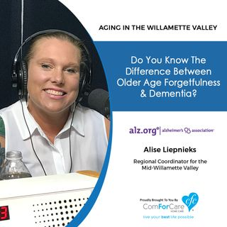 7/23/19: Alise Liepnieks with the Alzheimer's Association | Do you know the difference between older age forgetfulness and dementia?