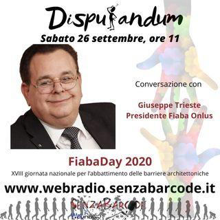 Fiaba Day XVIII Giornata nazionale per l'abbattimento delle barriere architettoniche, intervista a Giuseppe Trieste