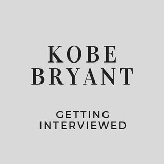 Kobe Bryant Getting Interviewed
