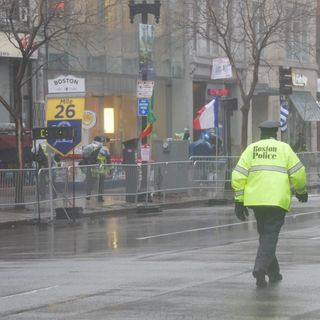 Rough Weather Conditions Impact Crowds, Runners At Boston Marathon