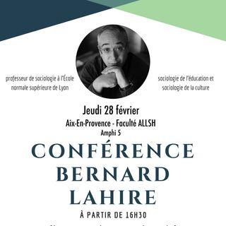 Conférence Bernard Lahire - Echange et débat - Février 2019