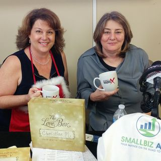 Christine Martinello with Original Love Box and Stephanie Sokenis with SmallBiz Ally