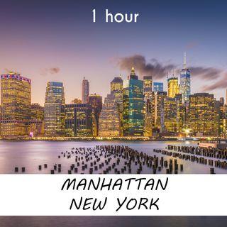 Manhattan, New York | 1 hour RIVER Sound Podcast | White Noise | ASMR sounds for deep Sleep | Relax | Meditation | Colicky