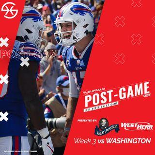 Buffalo Bills Washington Football Team Post Game Week 3