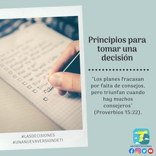 1 de octubre - Principios para tomar una decisión - Una Nueva Versión de Ti 2.0 - Devocional de Jóvenes