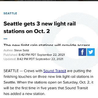 Seattle Expands Light Rail Train Network Ft. Gabriel Teodros, PokeyLo, & B. Rocket