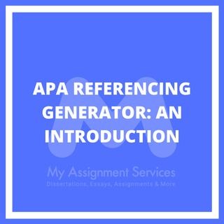 APA Referencing Generator An Introduction