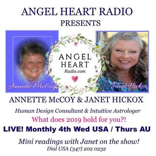 An Astrological Delve Into 2019- Annette McCoy & Janet Hickox