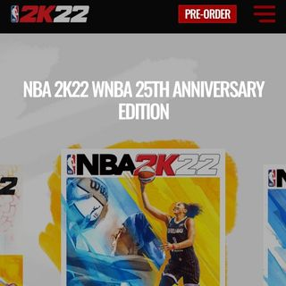 Candace Parker on the cover of NBA2K22