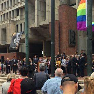 Boston Kicks Off Pride Weekend By Raising Rainbow Flag Over City Hall