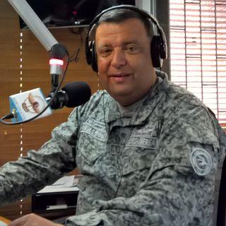El Brigadier General Donall Tascón, Comandante de CATAM Estuvo en Sobrevuelo.