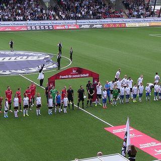 Pelle Blohm och Emir Kujovic´ efter 2-2-matchen, ÖSK-Norrköping