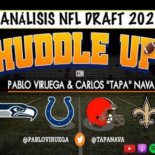 #HuddleUP Análisis #NFLDraft #Colts #Saints #Browns #Seahawks con @TapaNava y @PabloViruega #NavaVir