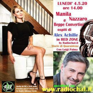 Manila Nazzaro e Beppe Convertini ospiti di Alex Achille in Red Zone by Radiochat.it