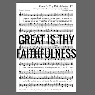 Great Is Thy Faithfulness - Morning Manna #3026