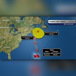 Hurricane Teddy Update Sept. 21, 2020 from SaltWire Network Meteorologist Cindy Day