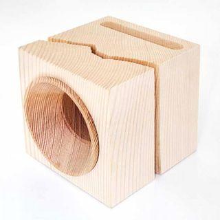 Vaia Cube, l'amplificatore costruito con il legno