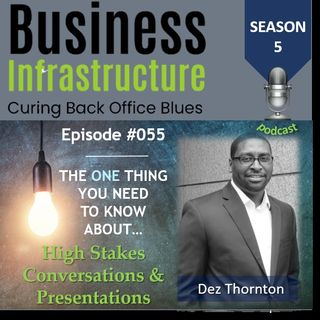 Episode 55: The One Thing You Need to Know About High Stakes Conversations   Dez Thornton