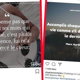 Arrêtez de poster des citations sur Instagram