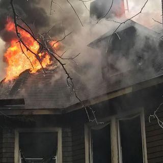 Fire Destroys Century-Old Roxbury Home
