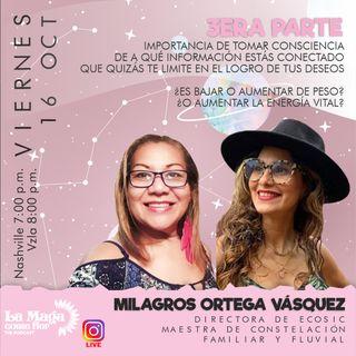 Episodio 5 Constelaciones Familiares, tercera parte con la maestra Milagros Ortega Vásquez