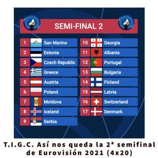 T.I.G.C. Así nos queda la 2ª semifinal de Eurovsión 2021 (4x20)